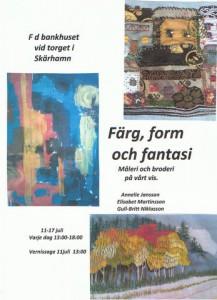 Färg, form och fantasi 11-17 juli 15 Skärhamn